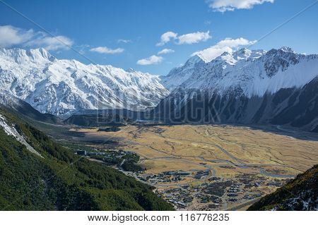 Mount Cook National Park View, New Zealand