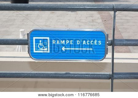 Blue Handicap Parking Or Wheelchair Acess Space Sign - Vector