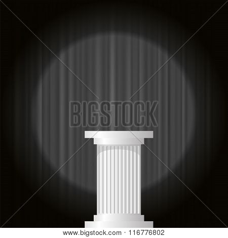 White Marble Greek Column