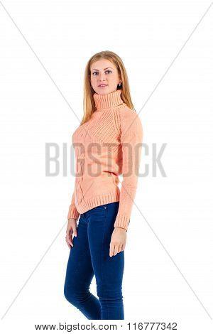 girl on white background