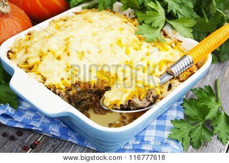 Pumpkin Casserole With Meat