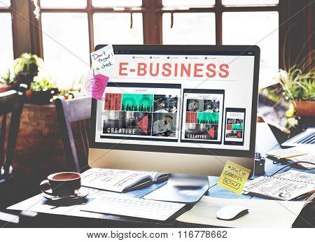 E-Commerce E-Business Internet Technology Connect Concept