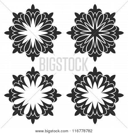Elements - black flowers