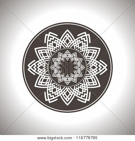 Abstract brown circle