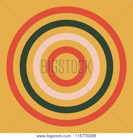 Colorful Abstract Modern Concentric Circle Texture, Background Pattern