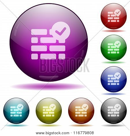 Active Firewall Glass Sphere Buttons