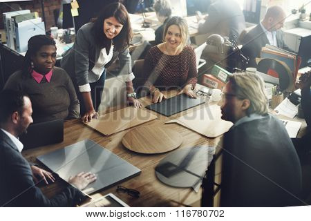 Business Team Meeting Project Planning Concept