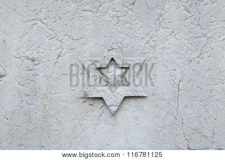 Decorative marble rosette. Background texture.