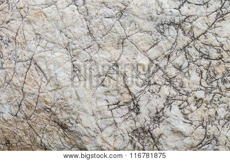 Closeup Surface Of Big Rock For Decoration In The Garden Texture Background