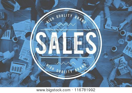 Sales Income Profit Selling Commerce Revenue Sell Concept
