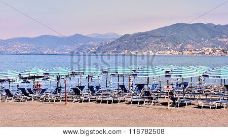 Italian Beach In Summer