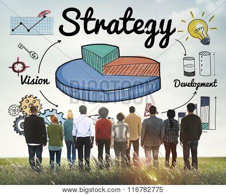 Strategy Business Chart Vision Development Concept