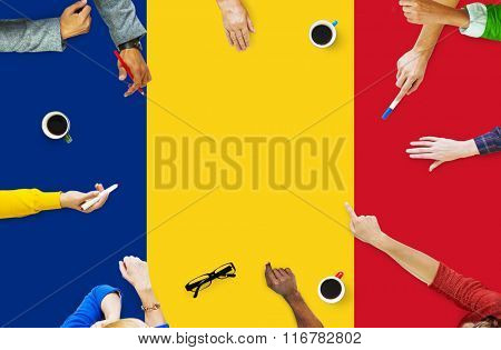 Romania National Flag Government Freedom LIberty Concept