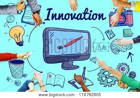 Innovation Futurism Creative Design Development Concept