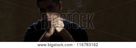 Man And Cigarette
