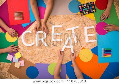 White Create Word