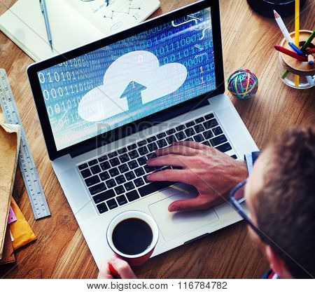 Cloud Computing Networking Sharing Storage Media Concept