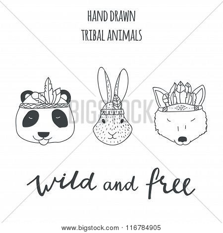 Tribal Hand Drawn Animals