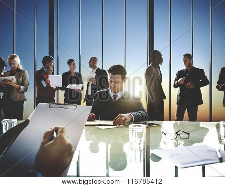 Corporate Business Team Meeting Brainstorming Concept