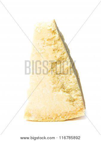Italian Original Parmesan Cheese On White Background