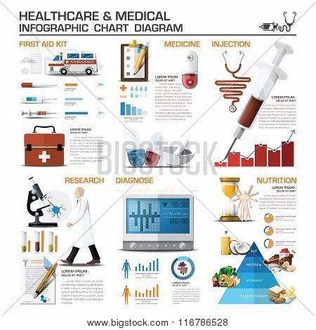 Healthcare And Medical Infographic Chart Diagram