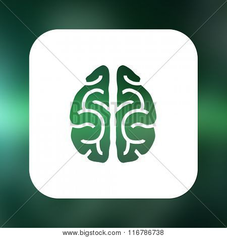 Brain with green background against ecg line in black and green
