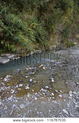 Mountain River Landscape, Pokhara, Nepal