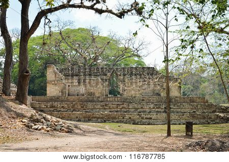Some of the ancient structures at Copan archaeological site of Maya civilization in Honduras