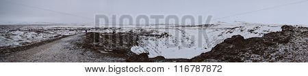Kerid Crater in Iceland During Winter