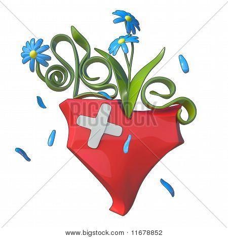 3D Flower Love