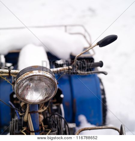 Atv Covered With Snow