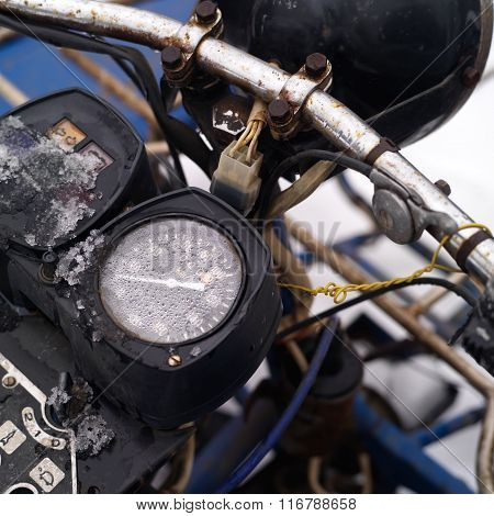 Motorcycle Retro Odometer