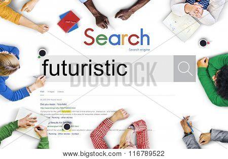 Futuristic Future Development Design Innovative Concept