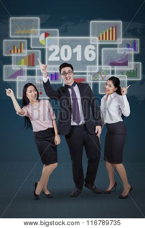 Businesspeople Celebrate Their Success Together