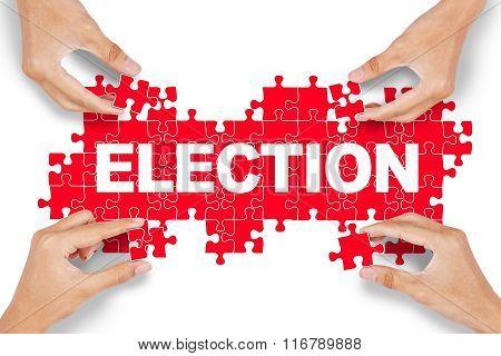 Hands Arrange Election Text
