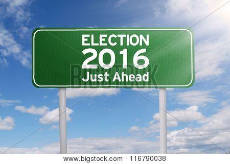 Road Sign Toward Election 2016