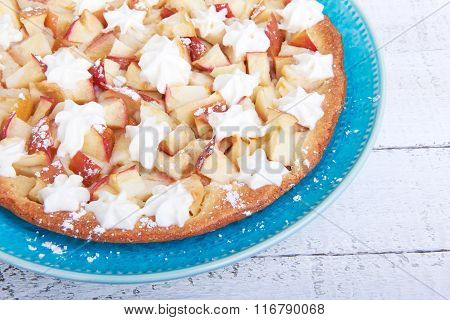 Apple Pie Charlotte With Whipped Cream