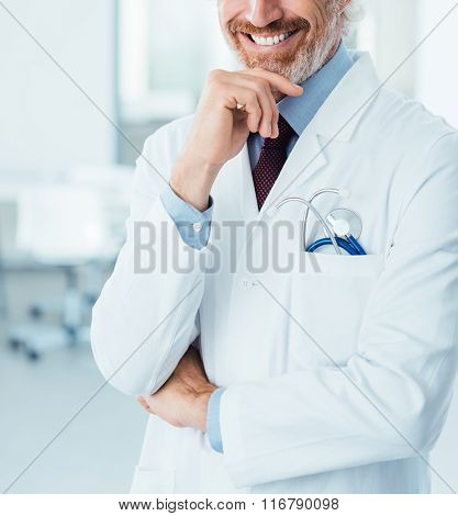 Professional Doctor Posing At Hospital