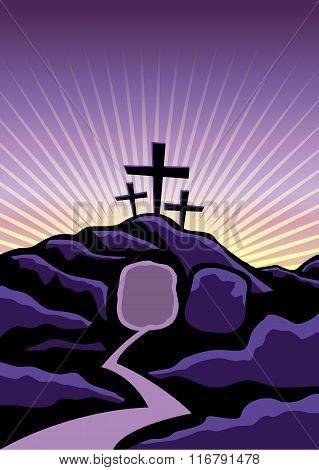 Christian Easter Background Illustration