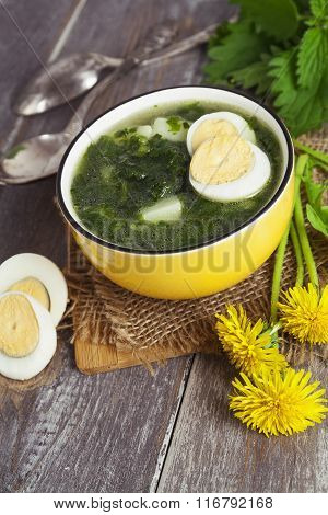 Soup Of Nettles With Eggs