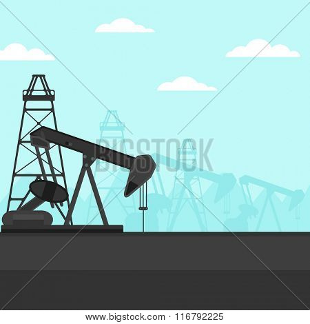 Background of oil derrick.