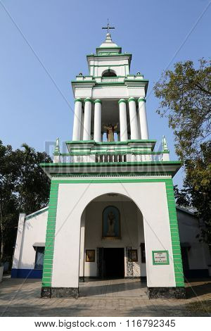 KUMROKHALI, INDIA - FEBRUARY 13: The Catholic Church in Kumrokhali, West Bengal, India February 13, 2014