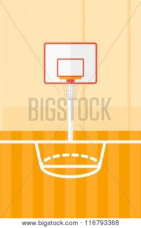 Background of basketball court.