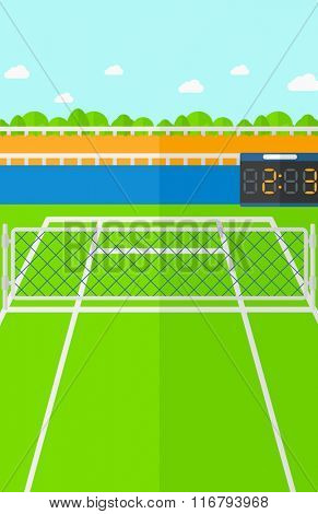 Background of tennis court.