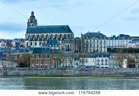 Blois On The Loire River (france).