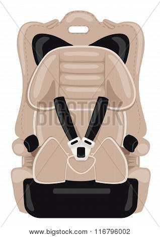 brown child car seat