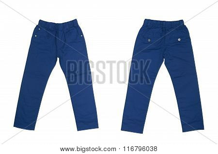 blue pants for child