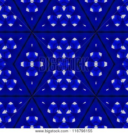 Seamless diamond pattern dark blue white