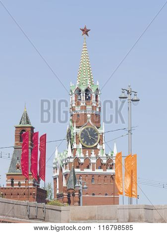 Spasskaya Tower In The Kremlin