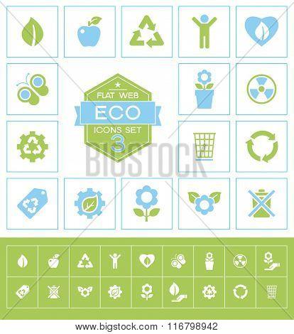 Set eco icons. Trendy eco vector elements.  Modern flat design.